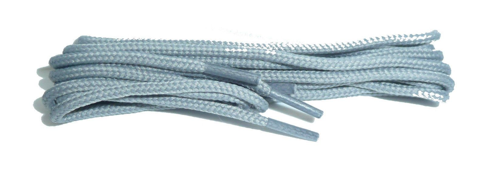 64ce0a4517d98 BRITISH Silver Grey Shoe and Boot Laces in THIN ROUND all lengths ...