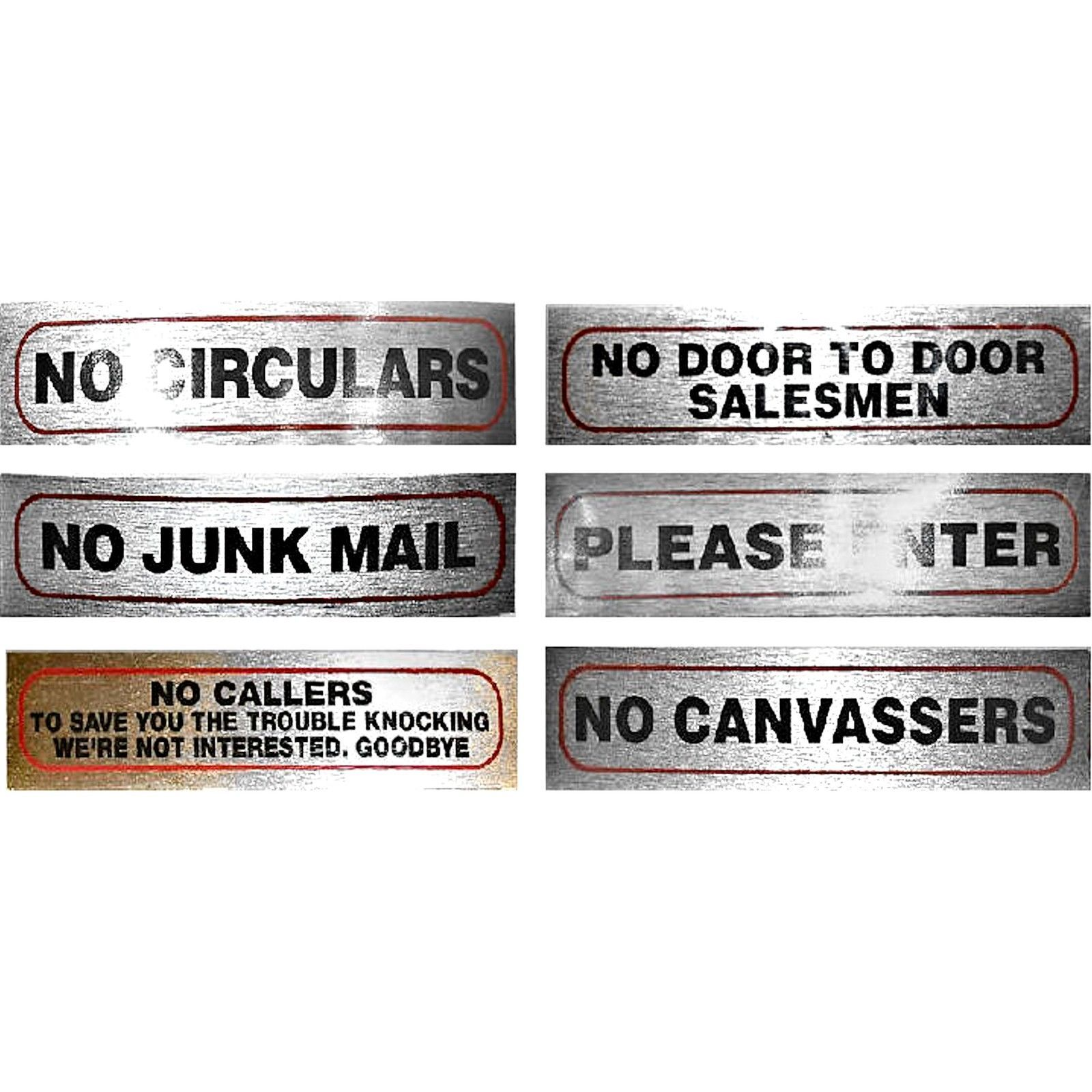Door signs for home office or shop